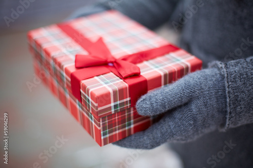 Giftbox in hands