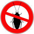 Постер, плакат: вектор стоп таракан