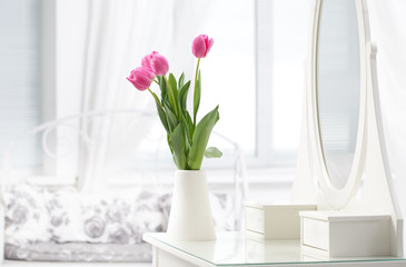 tulip in room