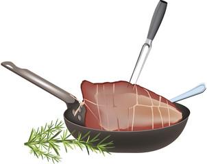 padella  con carne