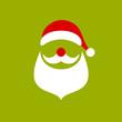 Abstract Christmas Card Santa Retro Green