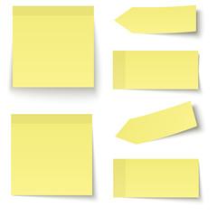 Sammlung - Klebenotiz gelb