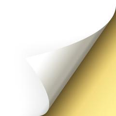 Papier - Ecke unten gold