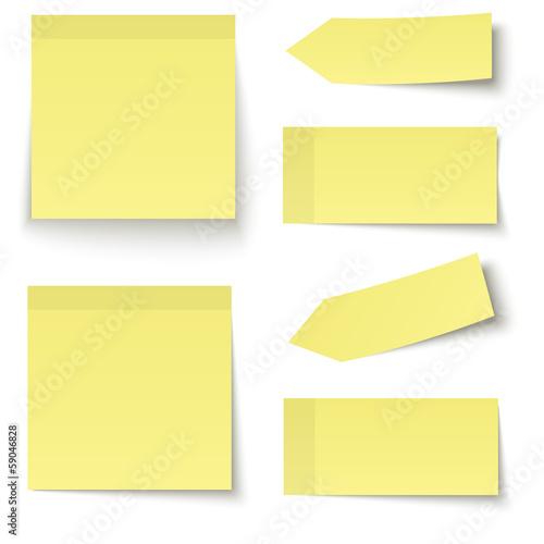 Sammlung - Klebenotiz gelb - 59046828