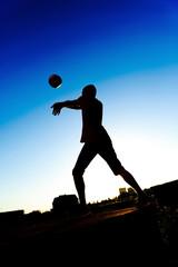 Outdoor sport, silhouette men