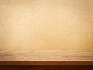 Table on Grunge Background