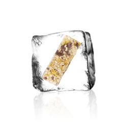 Müsliriegel im Eiswürfel