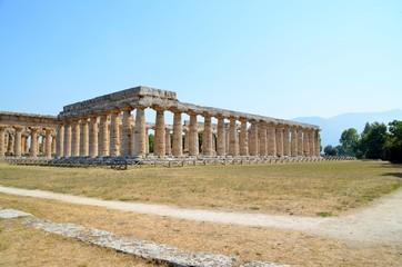 Ancient Temple Greek Ruins Acropolis - Paestum Italy