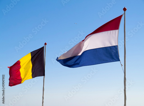 Dutch and Belgian Flag