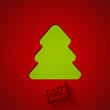 Christmas tree greeting card design. Happy New Year creative