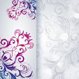 Abstract background with floral item.