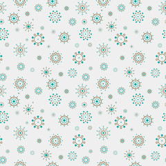 Abstract Dotted Circles Seamless Pattern