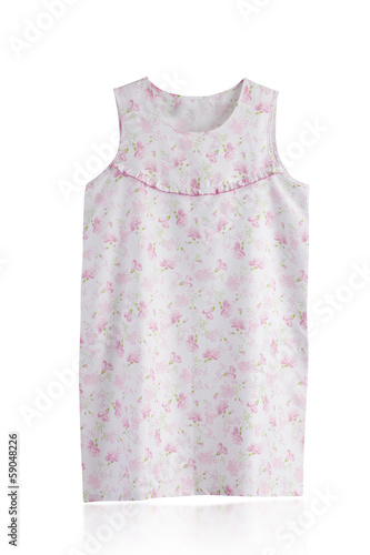 Cute pink sleepwear isolated on white background