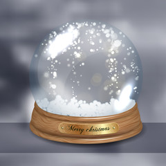 Empty Snow dome