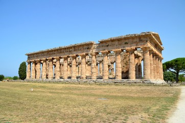 greek ruins - Paestum, Italy.