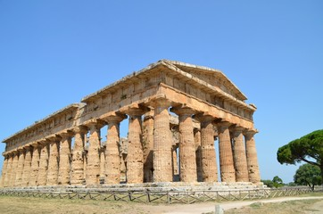 Ancient Temple Greek Ruins Acropolis - Paestum Italy