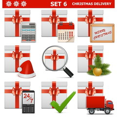 Vector Christmas Delivery Set 6
