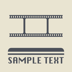 Blank film icon or sign, vector