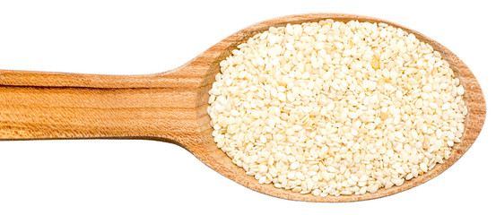 Wooden Spoon With Sesame Seeds