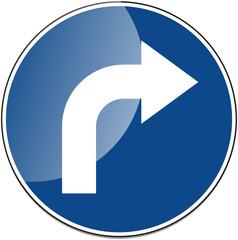 Rechts Rechtsabbieger Verkehrszeichen Verkehrsschild