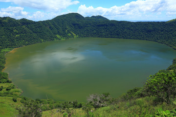 lake in volcanic crater