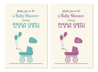 Baby shower invitation