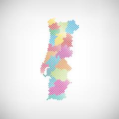Portugal Verwaltungsdistrikte Karte
