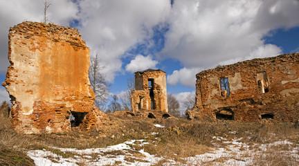 fortress ruins . Golshany, Belarus