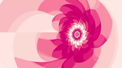 Pink flower seamless loop animation