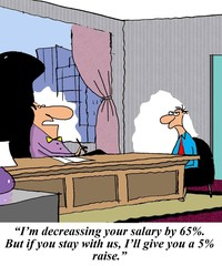 I'm decreasing your salary by 65%