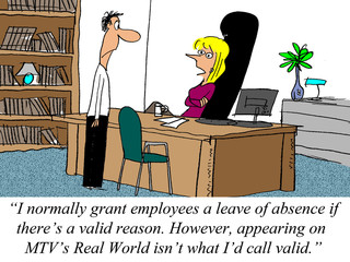 Businessman wants a leave of absence but boss disagrees