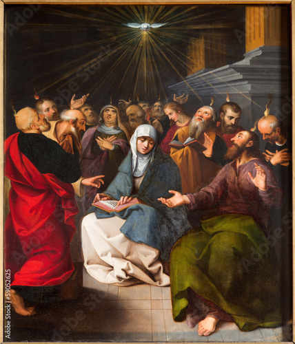 ntwerp - Paint of Pentecost scene from cathedral - 59052625