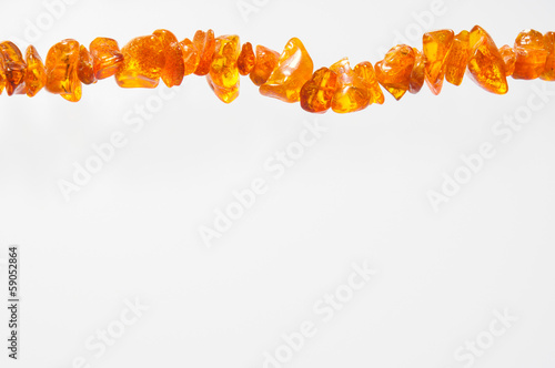 Natural Amber Necklace with Space for Text