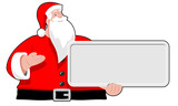 Santa Claus with board