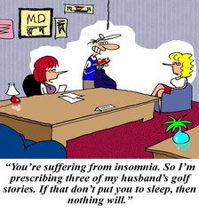 Doctor prescribes golf stories for sleep
