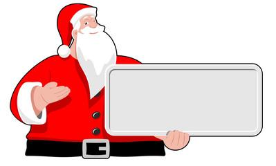 Santa Claus with board