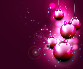 Luxury pink Christmas background