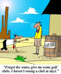 Clubs instead of water