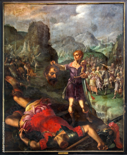Mechelen - David and Goliath scene