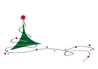 weihnachtsbaum - grün/rot