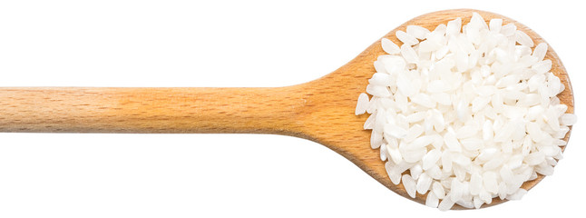 Wooden Spoon With Rice Seeds