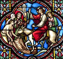 Bruxelles - Entrée de Jésus à Jérusalem sur vitre