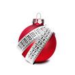 Weihnachtskugel mit Maßband