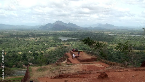 Bird's-eye view from the Sigiriya mount (Lion rock). Sri Lanka.