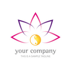 Zen Lotus Flower Company Logo