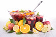 fruit sangria, punch