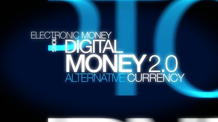 Money 2.0 animation digital cypto currency word tag cloud