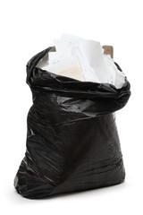 Full black plastic bag