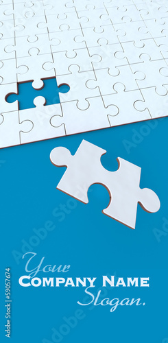 Blue and white puzzle