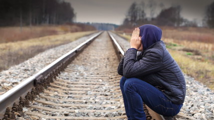 Depressed boy on the railway episode 1